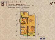 夏威夷城市广场2室2厅1卫88平方米户型图