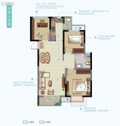 华丽家族太湖汇景2室2厅1卫93平方米户型图