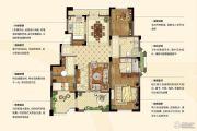 金浦翡翠谷3室2厅2卫123平方米户型图