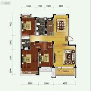 保利溪湖林语3室2厅2卫125平方米户型图