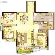 万科里享水韵3室2厅1卫97平方米户型图