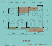 保利国际城翡丽湾3室2厅2卫105平方米户型图