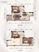 融达领寓4室2厅2卫104平方米户型图