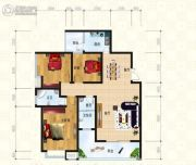 锦天・生态城3室2厅2卫117平方米户型图