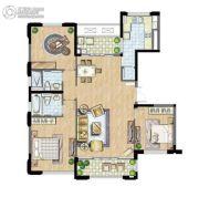 太湖锦园3室2厅2卫145平方米户型图