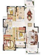 民安北郡3室2厅2卫136平方米户型图