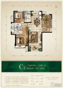 保利花园3室2厅2卫120--124平方米户型图