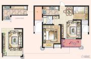 神州通北城新境2室1厅1卫77平方米户型图