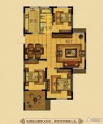 金鼎名府3室2厅1卫107平方米户型图