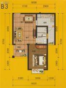 四通八达国际广场1室2厅0卫59平方米户型图