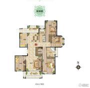 新田城4室2厅2卫0平方米户型图