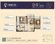 兆兴・碧瑞花园1室2厅1卫68平方米户型图