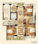 宝盈茗泓苑3室2厅1卫116平方米户型图