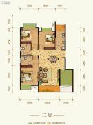 康田紫悦府3室2厅2卫83平方米户型图