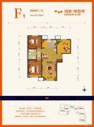 鸿坤・理想湾2室2厅1卫97平方米户型图