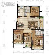 金地艺境4室2厅2卫115平方米户型图