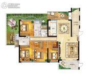 帝�Z苑4室2厅3卫215平方米户型图