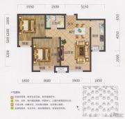 保利・茉莉公馆2室2厅1卫81平方米户型图