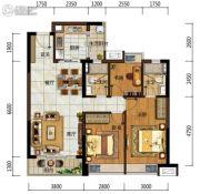 中海左岸岚庭3室2厅2卫97平方米户型图