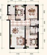 锦尚国际3室2厅2卫129平方米户型图