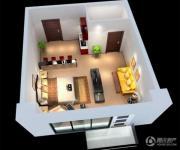 蓝光空港国际城1室0厅1卫30平方米户型图