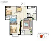 新加坡尚锦城2室2厅1卫87平方米户型图