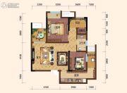 旭阳台北城敦美里3室2厅1卫64平方米户型图