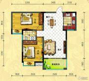 中央新城2室2厅1卫88--89平方米户型图
