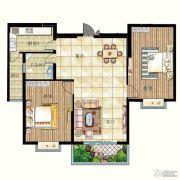 华宁春天2室2厅1卫117平方米户型图