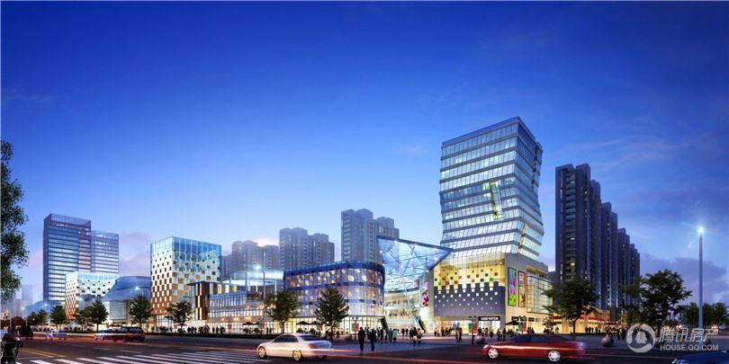 中部易商谷电子商务产业园商业夜景效果图