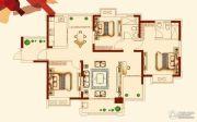 世纪城金域华府3室2厅2卫143平方米户型图