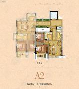银河名苑2室2厅1卫91平方米户型图