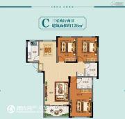 天安名郡3室2厅2卫126平方米户型图