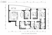 龙湖世纪峰景4室2厅3卫208平方米户型图