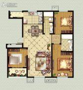 福临广场3室2厅2卫128平方米户型图