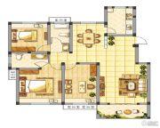 皇山华府3室2厅1卫0平方米户型图