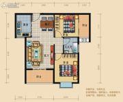 龙城华府2室2厅1卫79平方米户型图