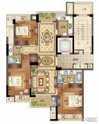 宝盈茗泓苑3室2厅2卫131平方米户型图