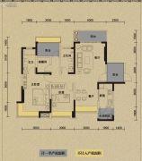 保利国际城翡丽湾3室2厅2卫113平方米户型图