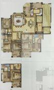尚品半岛4室2厅3卫171平方米户型图