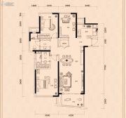 金茂广场3室2厅2卫143平方米户型图