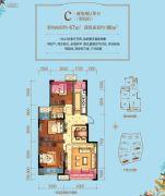 力帆翡翠华府2室2厅1卫67平方米户型图
