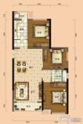 南宁安吉万达广场3室2厅2卫90平方米户型图