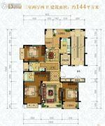 滨园・南城骊苑3室2厅2卫144平方米户型图