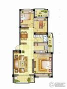 银亿璞园3室2厅1卫90平方米户型图