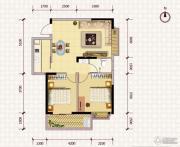 鹏利广场2室2厅1卫84平方米户型图