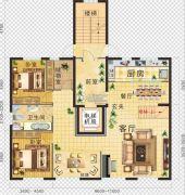 金地・红大蓝湾3室2厅1卫235--302平方米户型图
