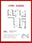 百合金山3室2厅2卫121平方米户型图