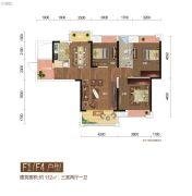 城市中央广场 | 誉峰3室2厅1卫112平方米户型图