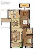 鸿�Z园3室2厅2卫106平方米户型图